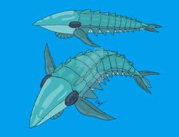 Lamnicaris - pelagic predatory anomalocaridid