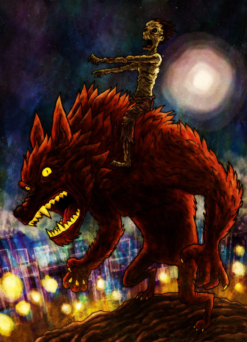 Zombie on a Werewolf by avid