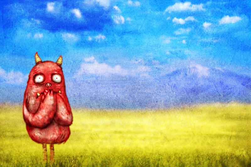 Monster In The Meadow by avid