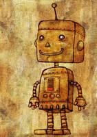 Robot Smiles Despite Low Batt by avid