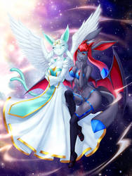 |CM| Sheena and Crystal by GigaMessy