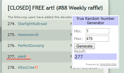 Raffle88 by GigaMessy