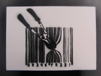 Break Free Stencil by earwig20