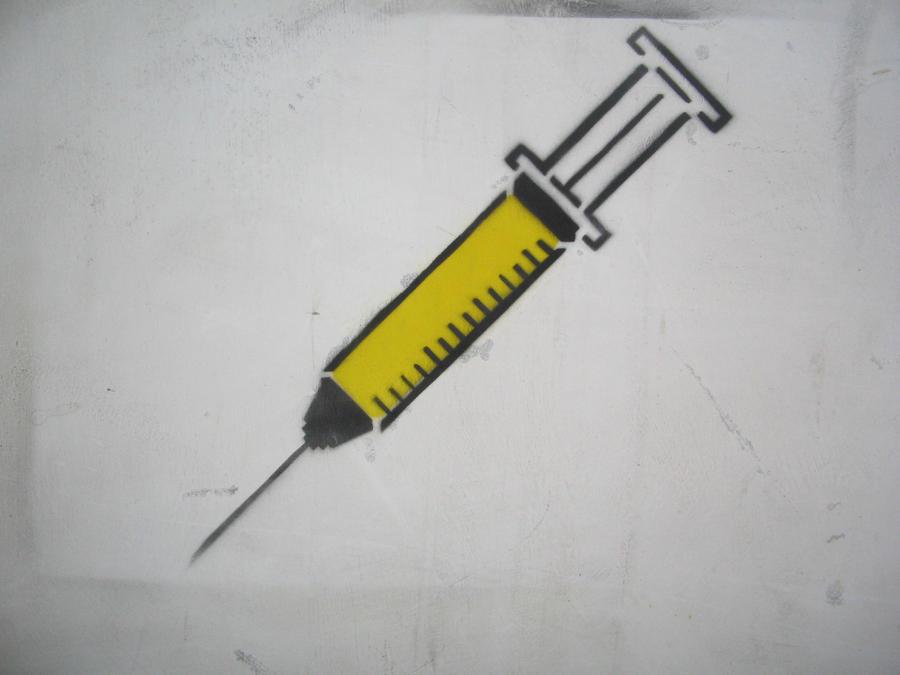 Syringe Stencil by earwig20