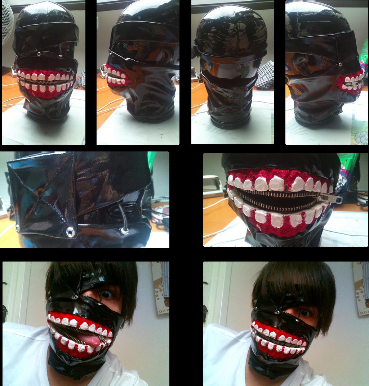 Как сделать маску канеки кена своими руками 87