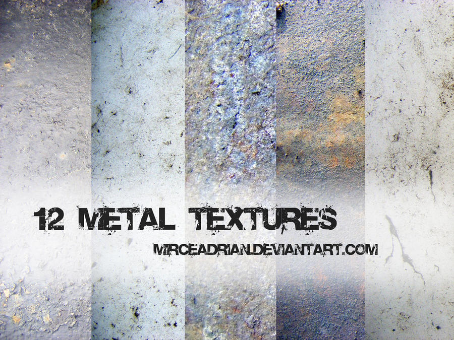 12 Metal Textures by MirceAdrian