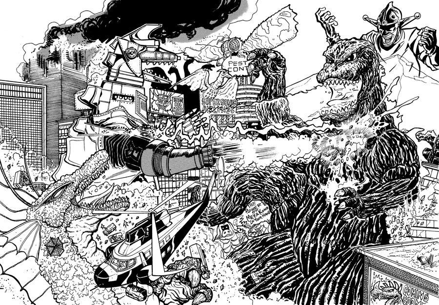 Terror Of MechaGodzilla re-imagined by fbwash
