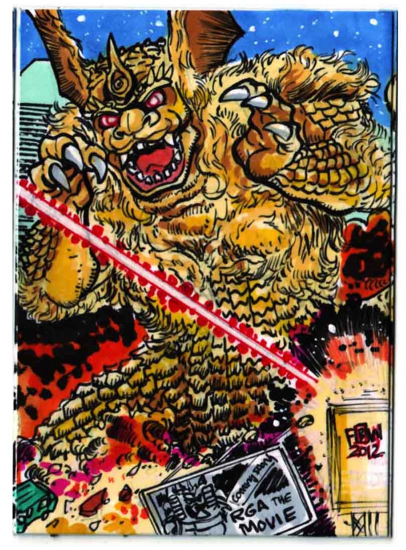 Godzilla Contest King Seesar Puzzle Card 2 of 4 by fbwash