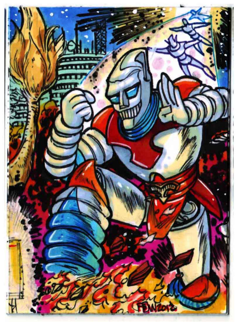 Godzilla Contest Jet Jaguar Puzzle Card 3 of 4 by fbwash