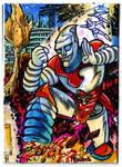Godzilla Contest Jet Jaguar Puzzle Card 3 of 4