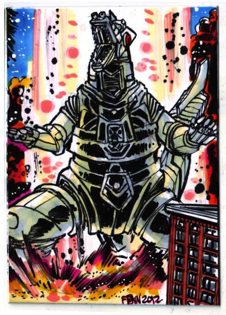 Godzilla Contest MechGodzilla Puzzle Card 4 of 4 by fbwash