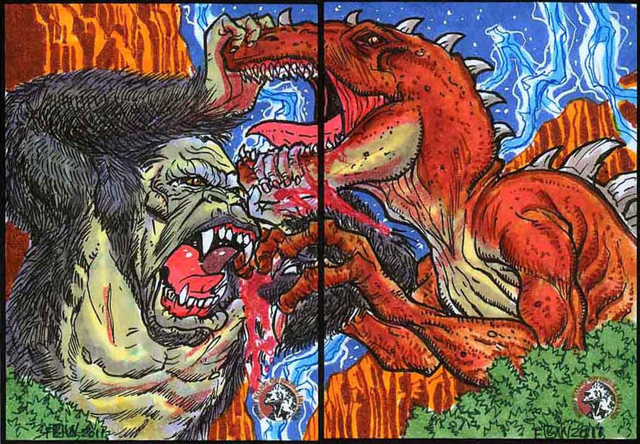 2011 5Finity King Kong Sketch Cards 4 by fbwash