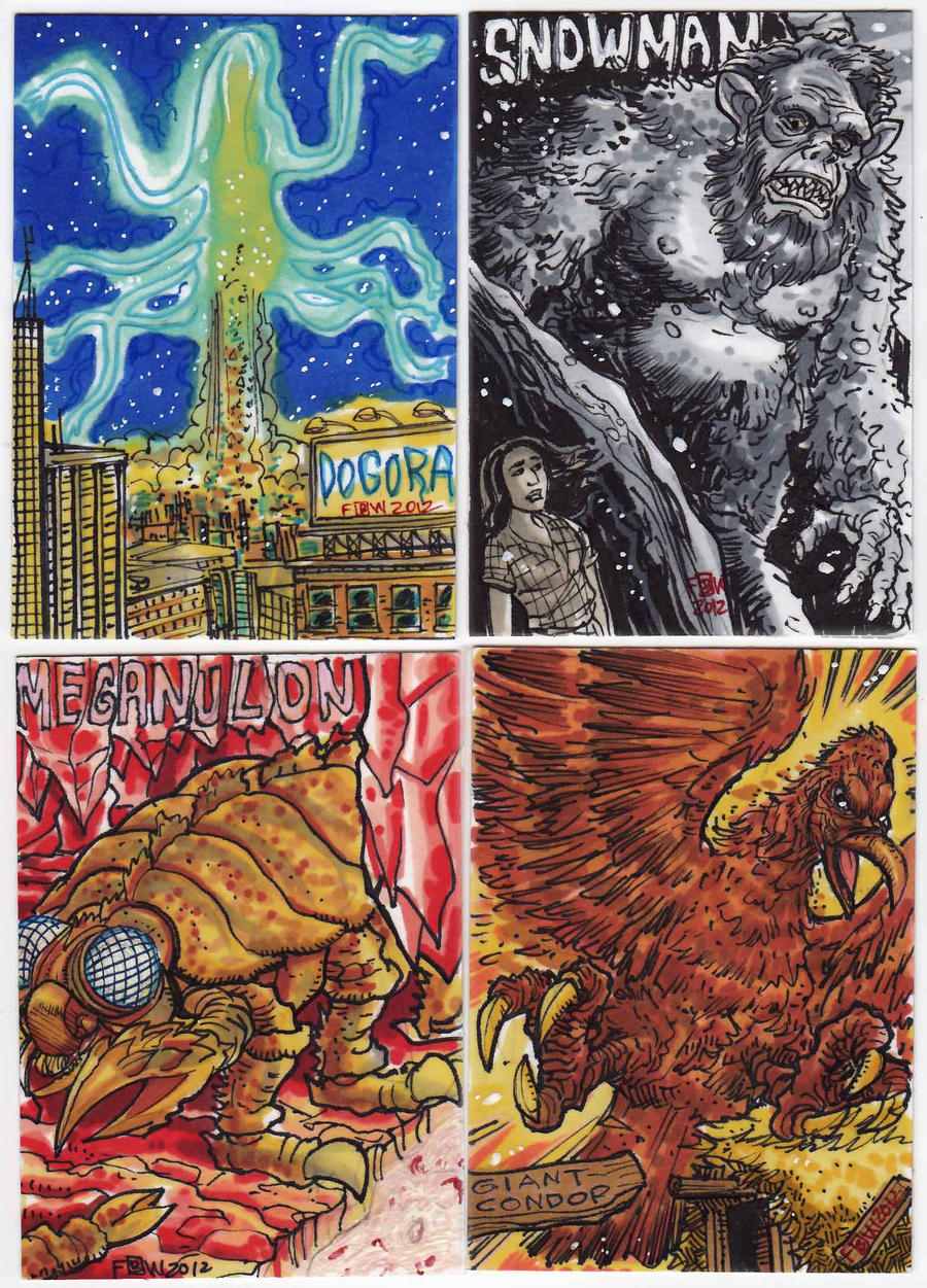 2012 Kaiju Kards Set 4 by fbwash