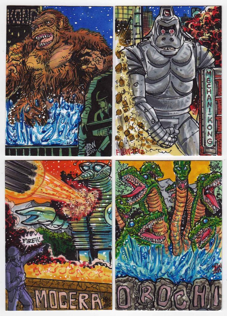 2012 Kaiju Kards Set 5 by fbwash