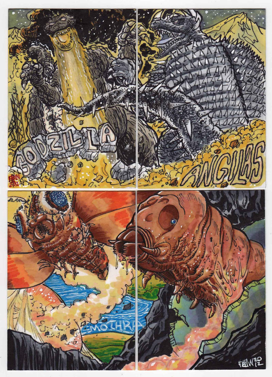 2012 Kaiju Kards Set 6 by fbwash