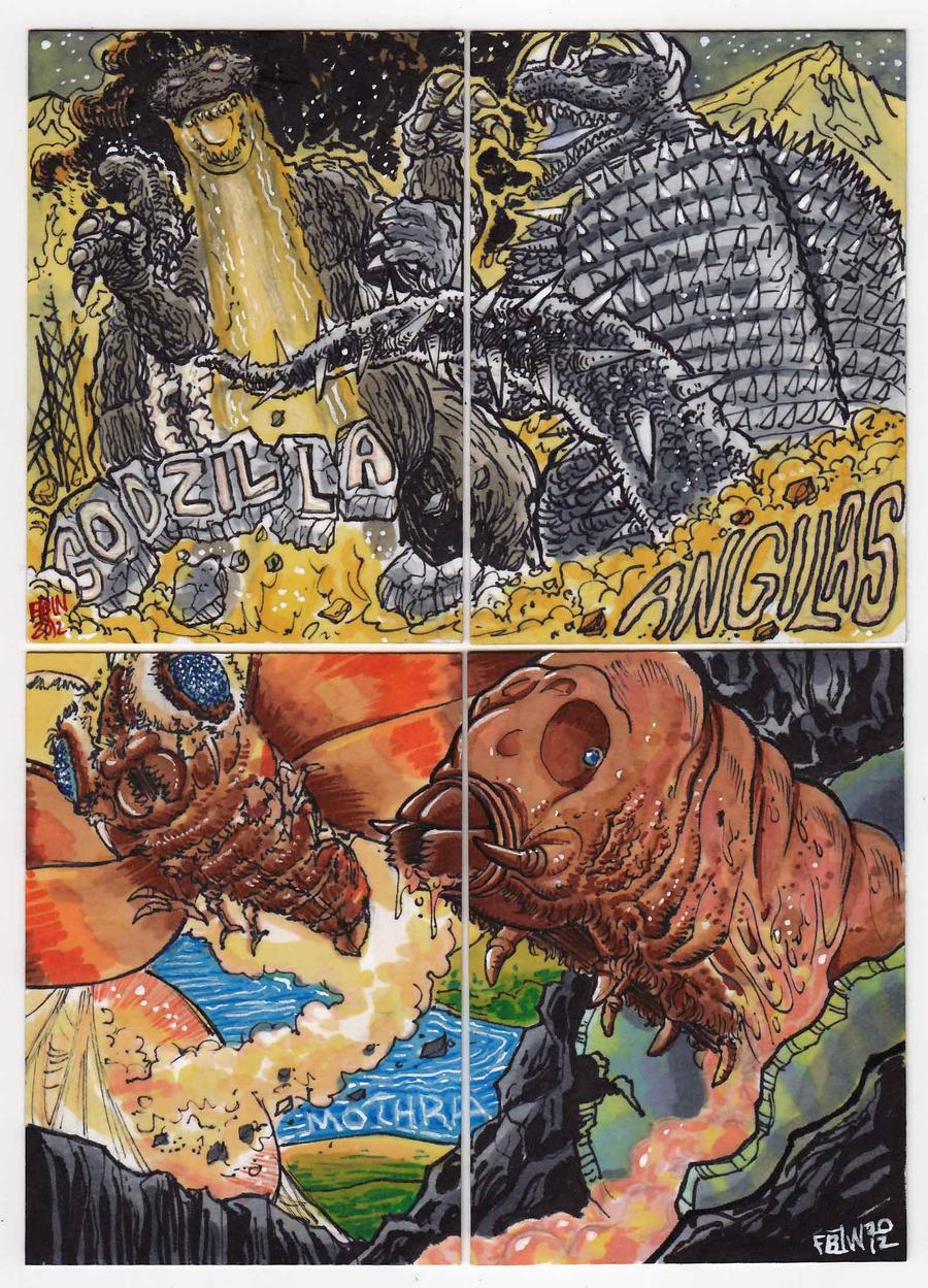 2012 Kaiju Kards Set 6 by fbwash