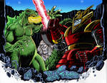 Godzilla vs Red Ronin Color