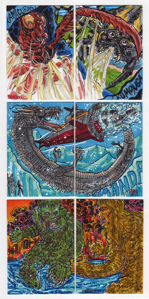 2012 Kaiju Kards Set 7 by fbwash