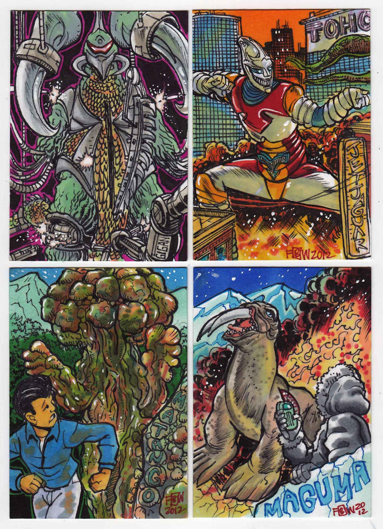 2012 Kaiju Kards Set 8 by fbwash