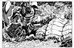 Robot God Akamatsu vs Macrosaurus BW