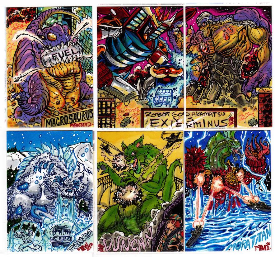 Kaiju Combat Card Set 1 by fbwash