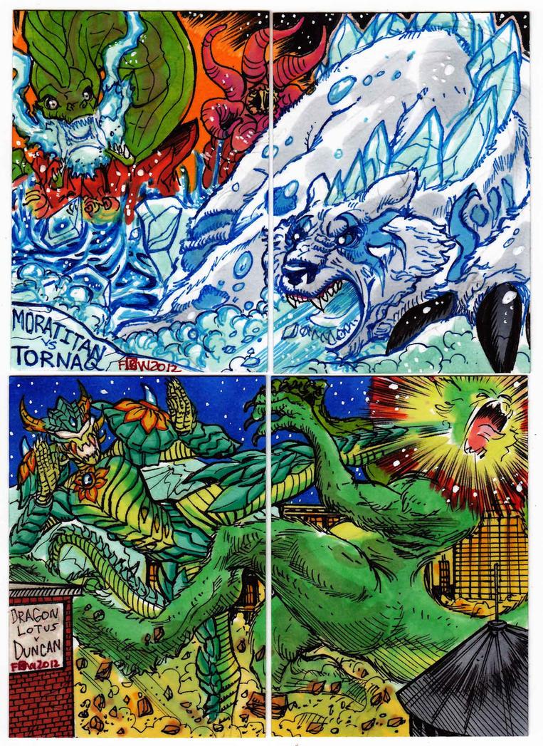Kaiju Combat Card Set 2 by fbwash
