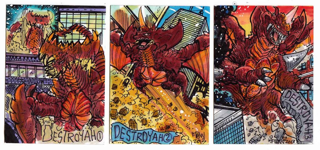 Kaiju Kards Set9 by fbwash