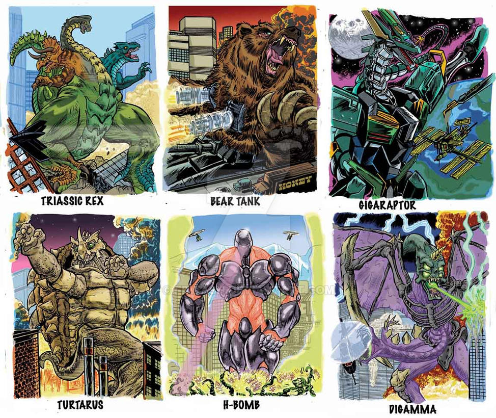 Colossal Kaiju Combat Trading Card Sample 7 by fbwash