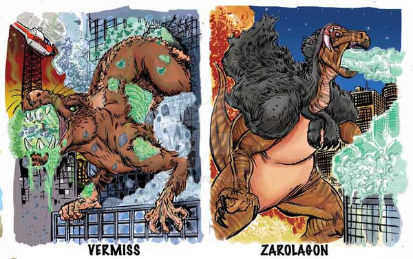 Colossal Kaiju Combat Trading Card Sample  By Fbwash On Deviantart