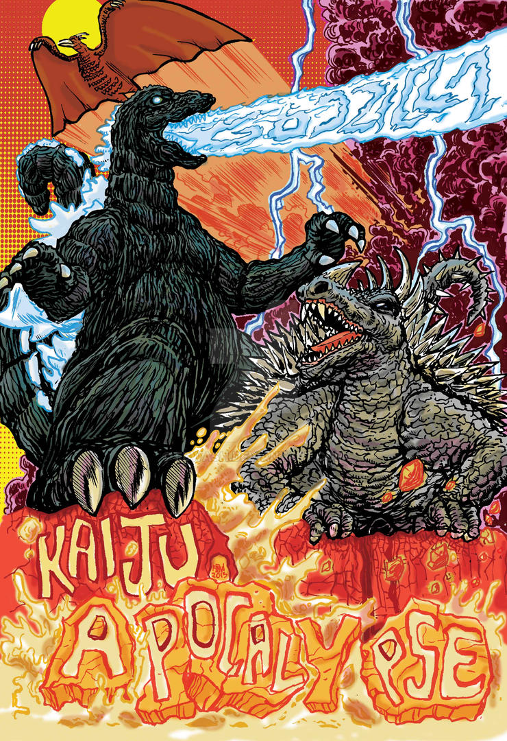 Godzilla Kaiju Apocalypse Cover by fbwash