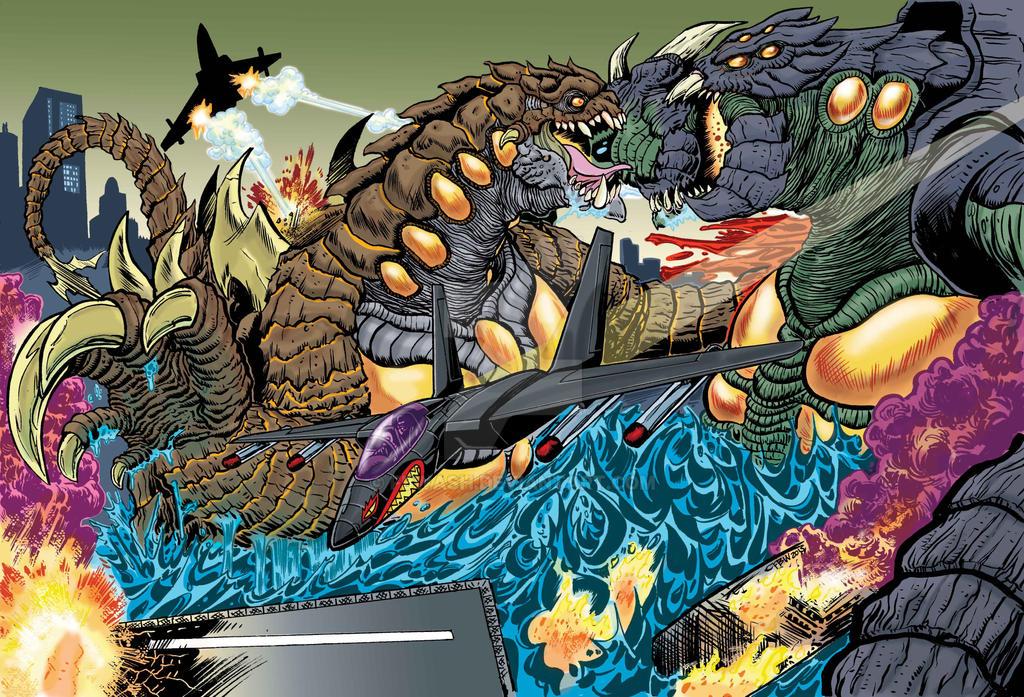 Nemesis VS Megatsuchi Colored by fbwash