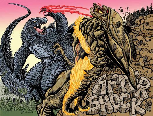 Godzilla vs Muto Prime Art