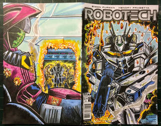 Robotech Wrap Around Sketch Cover