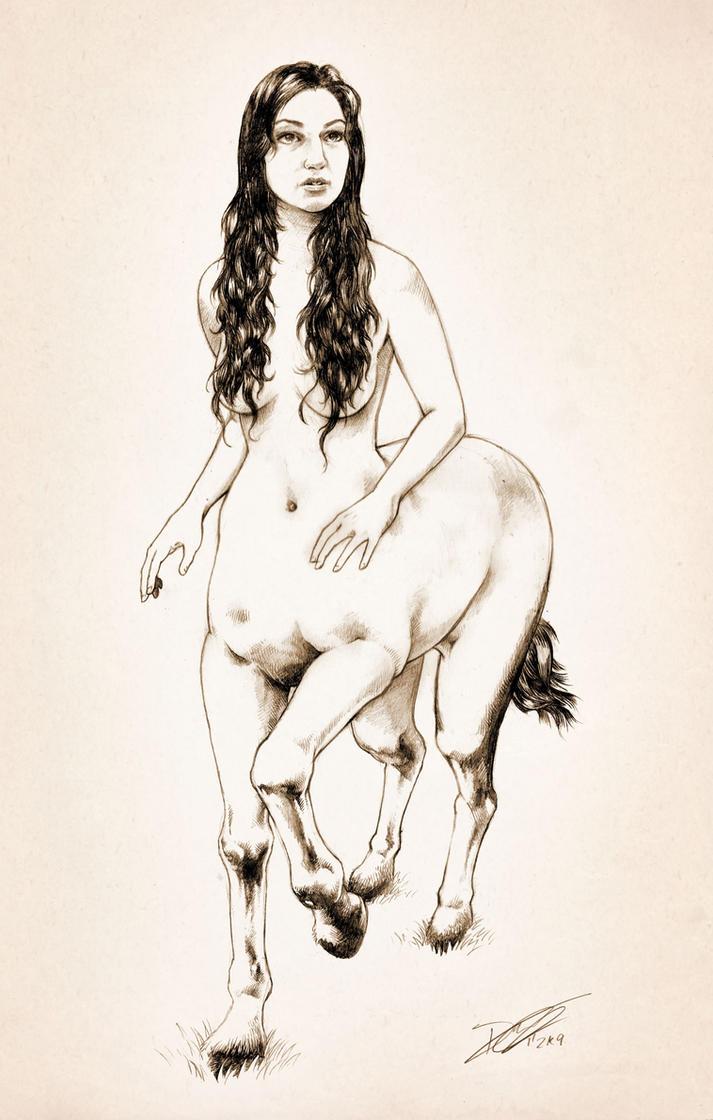 Centaur by OzimandiasArt