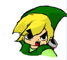 Toon Link in iScribble by Bakyumorion