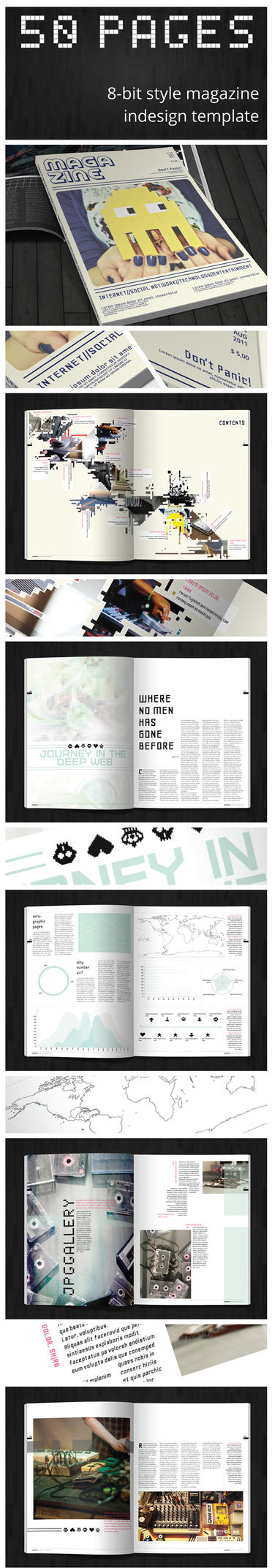 8-bit magazine template by duemilacentododici