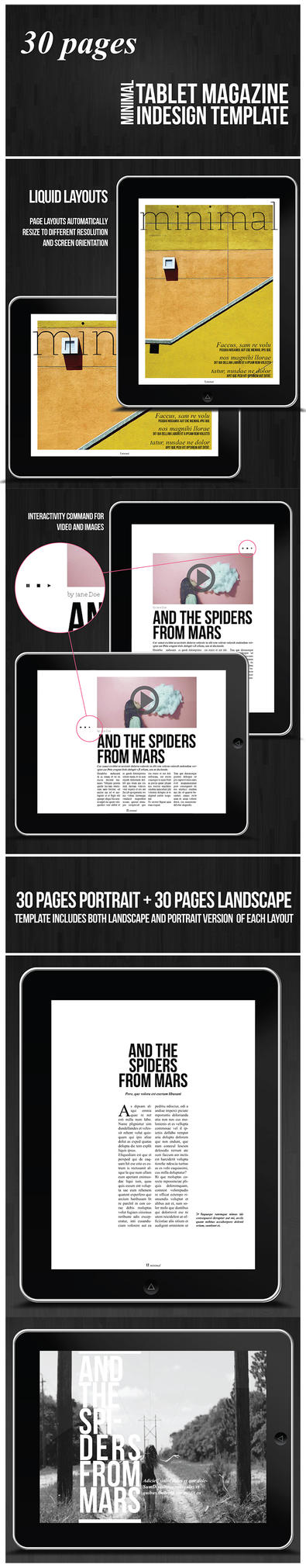 ipad magazine template by duemilacentododici