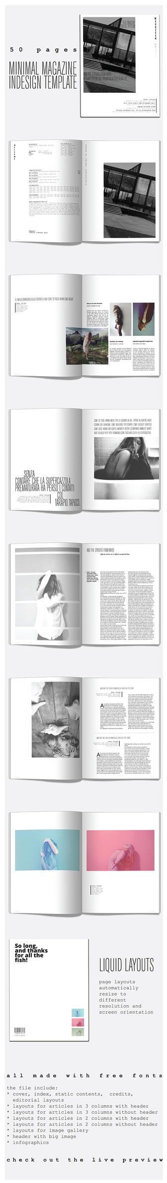 50 Pages Minimal Magazine Template by duemilacentododici