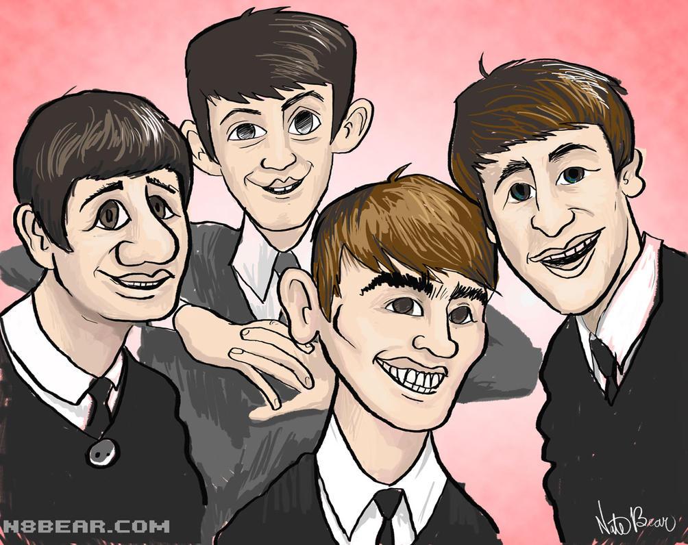Old School Beatles by skortbulb