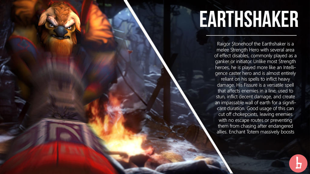 dota 2 artwork earthshaker by bazzingadoto on deviantart