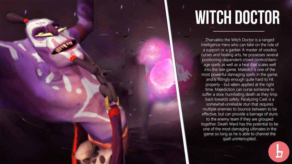 zharvakko the witch doctor dota 2 artwork by bazzingadoto on