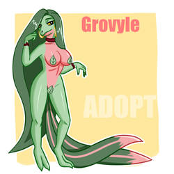 Grovyle Anthro ADOPT OPEN by AlonsyART