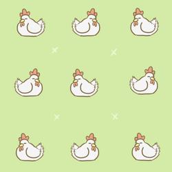 Chibi Chicken Background by Lauzi