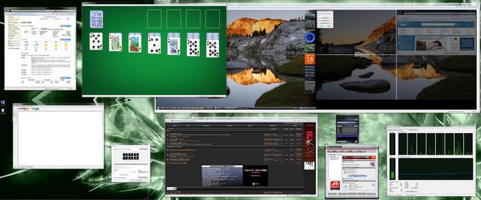 5760x2400 Sex-Monitor Desktop