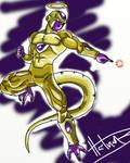 Time Lapse Art: Golden Frieza (Video Below) by BrandonHartman