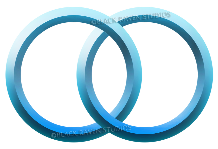 2 Blue rings logo/button/icon