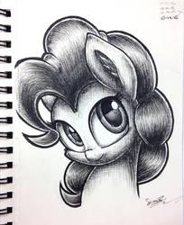Pinkie Pie Pen Sketch