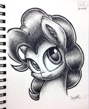 Pinkie Pie Pen Sketch
