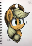 Inquisitive Apple (Colored)