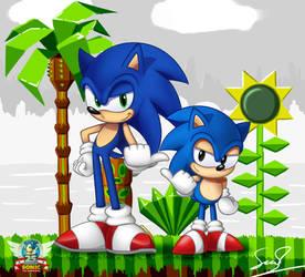Sonic 25th Anniversary by sheandog